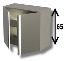 AISI 304 Stainless Steel Wall Cabinet with Hinged Door