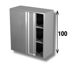 AISI 304 Stainless Steel Sliding Door Wall Cabinet