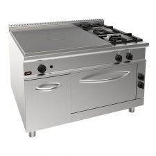2-Burner Commercial Gas Range + Solid Top Hob + Commercial Electric Oven With Neutral Compartment 20GX9TP2FM+FE