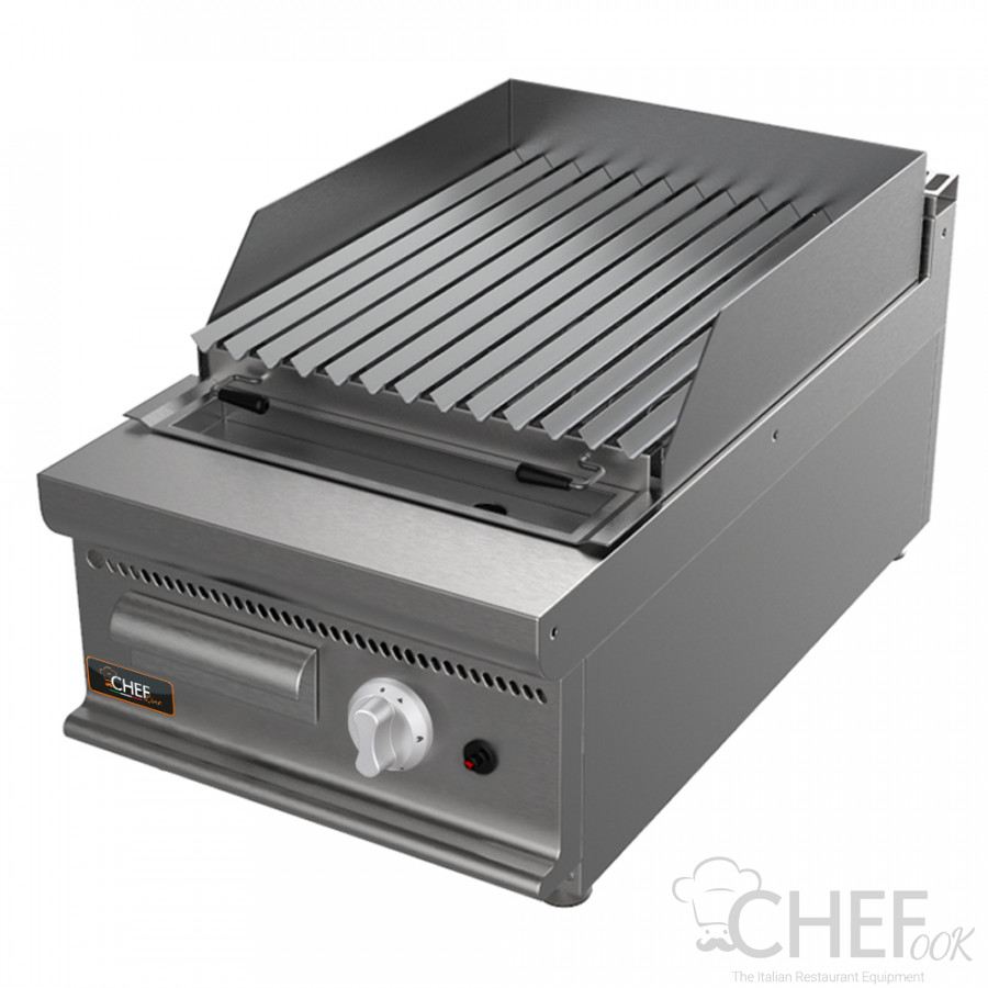 Gas Barbecue With Lava Rocks 70 cm / 27,5 in Depth