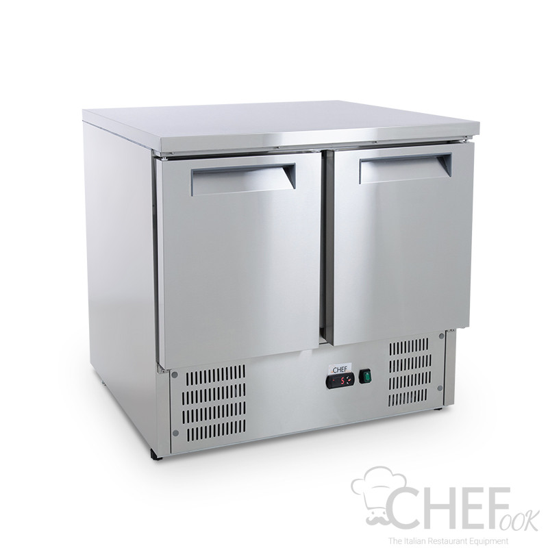 Image Chefline Saladette 2 Doors With Stainless Steel Top