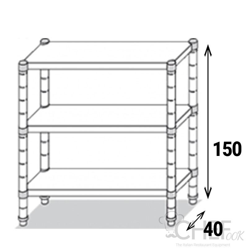 Stainless-Steel Shelf Eko Line AISI 430 EKOSCL00415