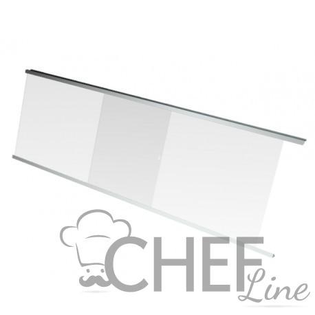 Rear Plexiglass Sliding Doors For Straight-Glass Fridge Counter