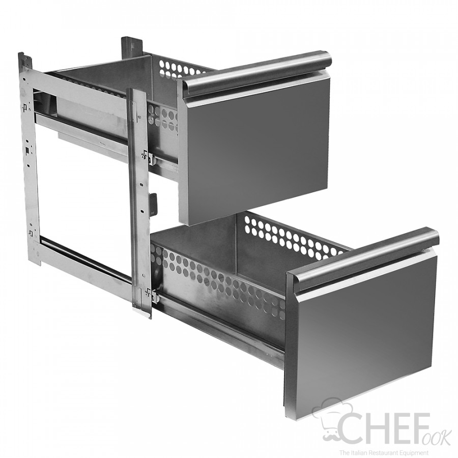 Supplement 2 Drawers 1/2 For TF Series Fridge Counters