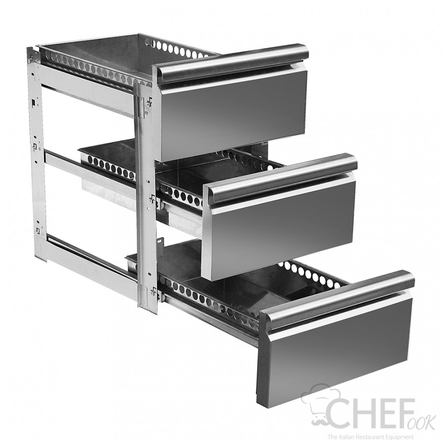 Supplement 3 Drawers 1/3 For TF Series Fridge Counters