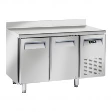 Image Professional Pastry Fridge Table with 2-Port Chefline Upstand