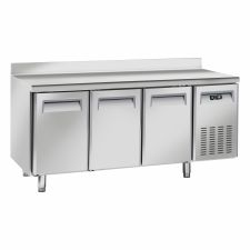 Image Professional Pastry Fridge Table with 3-Port Chefline Upstand