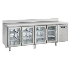 4-Door Worktop Fridge With Upstand 70 cm Depth +3°C/+10°C