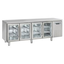 4-Door Worktop Fridge 70 cm Depth +3°C/+10°C