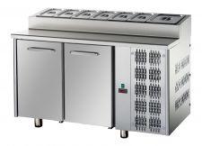 2-Door Refrigerated Prep Table 70-cm depth GN 1/1 pans