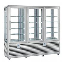 Refrigerated Vertical Glass Cake Display Cabinet  1388 Liters