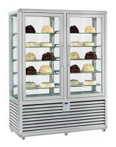 Refrigerated Vertical Glass Cake Display Cabinet 230 Liters