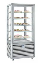 Refrigerated Vertical Glass Cake Display Cabinet 541 Liters