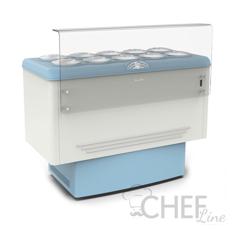 Ice Cream Counter With 10 x 7,5-Litre Cylindrical Containers