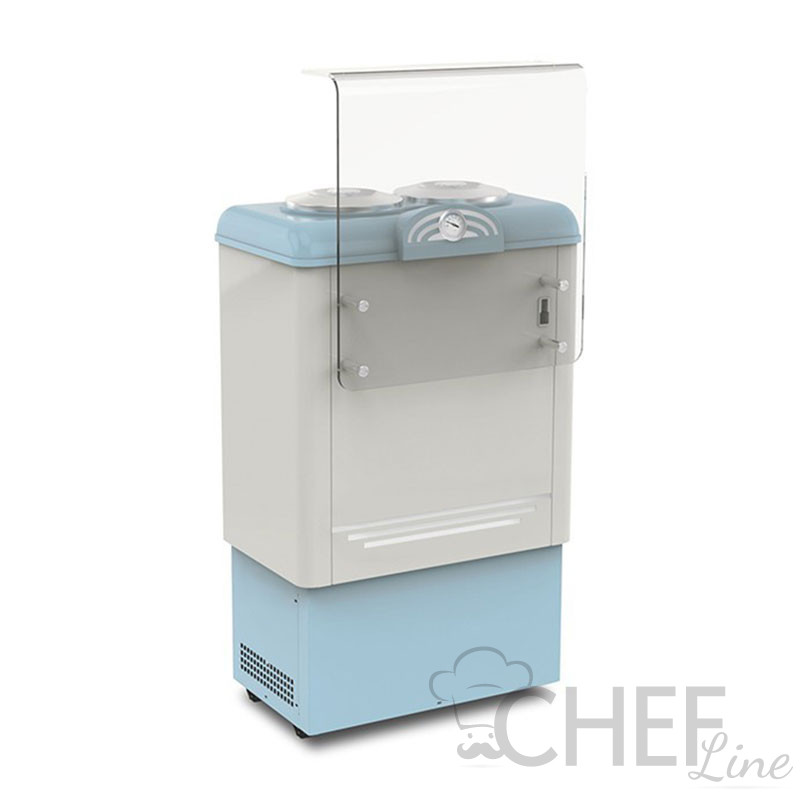 Ice Cream Counter With 2 x  7,5-Litre Cylindrical Containers