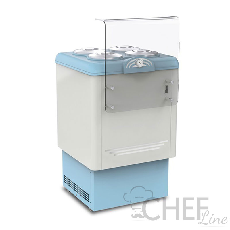 Ice Cream Counter With 4 x 7,5-Litre Cylindrical Containers