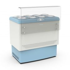 Ice Cream Counter With 8 x  7,5-Litre Cylindrical Containers