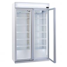 Refrigerated Display Case For Beverages 1050 Liters +1 / +10°C With Advertising Canopy