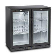 Back Bar Cooler, Bar Fridge 201 Litres +1°C/+6°C Hinged Doors