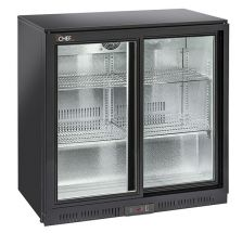 Back Bar Cooler, Bar Fridge 201 Litres +1°C/+10°C Sliding Doors