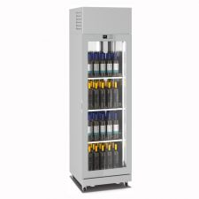 Commercial Wine Fridge 600 Litres (120 Bottles) +4°C/+18°C 1 Display Side H 230 cm