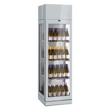 Commercial Wine Fridge 600 Litres (120 Bottles) +4°C/+18°C 3 Display Sides H 230 cm