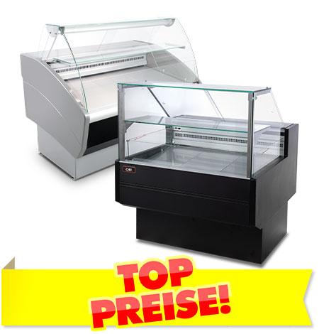 Kühltheken und Kühlvitrinen für Lebensmittel TOP PREISE