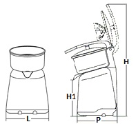 commercial juicer with lever
