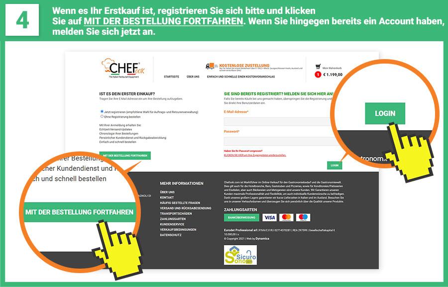 ChefLine - Quarto step ordine